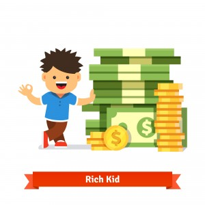 Children savings and finance concept